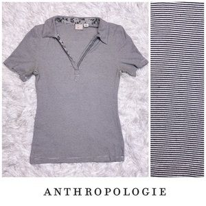 Anthro Postmark Striped Collared Shirt